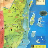 แผนที่แสดงตำแหน่งหลุมน้ำเงินแบลิซ