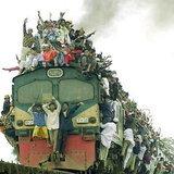 ภาพความเบียดเสียดของรถไฟอินเดีย