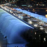 Banpo Bridge in South Korea