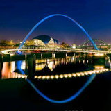 Gateshead Millennium Bridge in England