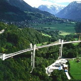 Sunniberg Bridge in Switzerland