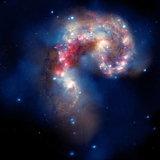 กลุ่มดาวกาแลกซี แอนเทนนี ที่กำลังพัลวันกัน