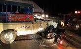 รถแรงเบรกไม่ทัน ว่าที่ตำรวจหนุ่มวัย 20 ขับบิ๊กไบค์ชนสองแถวสาหัส