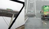 คลิปนาทีหายนะ สะพานอิตาลีพังถล่ม และรถที่เหยียบเบรกทัน-รอดตาย