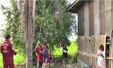 หนุ่มทำอิฐเครียด ปีนต้นมะขามสูงกว่า 10 เมตรผูกคอเสียชีวิต