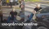 ฝรั่งปรี๊ดเดือด! รถชนคาทางม้าลายเมืองไทย โมโหนั่งขวาง-ไม่ลุกไปไหน