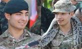 """ร้อยโทหนุ่ม ลูกชายดาราตลก """"มิสเตอร์บีน"""" ร่วมฝึกกองทัพในประเทศไทย"""