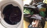 ปรี๊ดแตก! จวกแก๊งเด็กโดดเรียนหนีเล่นเกม ซุกชุดนักเรียนในเครื่องซักผ้าหยอดเหรียญ
