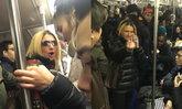 """สาวสุดเหยียด ด่าหยาบสาวหมวยในรถไฟนิวยอร์ก """"นังโง่ ไปตายซะ"""" ก่อนใช้ร่มฟาดไร้สาเหตุ"""