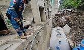 สลด! สายสลิงขาด-ทำแผ่นปูนหล่นทับคนงานก่อสร้างดับ 1 ราย
