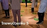 ศบค.รายงานไทยพบผู้ติดเชื้อโควิด-19 เพิ่ม 5 ราย ไม่พบติดเชื้อในประเทศครบ 79 วัน