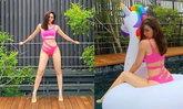 """สวยตาค้าง """"ชมพู่ อารยา"""" กับชุดว่ายน้ำสีชมพู ทั้งเผ็ด ทั้งแซ่บ ดาเมจแม่รุนแรงจริงๆ"""
