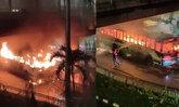 ผวากลางกรุง! ไฟไหม้รถเมล์สาย 182 ใกล้ห้างดัง เพลิงวอดเสียหายทั้งคัน