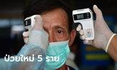 ศบค.รายงานไทยพบผู้ติดเชื้อโควิด-19 เพิ่ม 5 ราย รวมป่วยสะสม 3,564 ราย