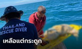 พบศพลอยทะเลสัตหีบ เหลือแต่โครงกระดูก ห่างชายฝั่ง 20 ไมล์ทะเล