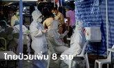 ผู้ป่วยรายใหม่ 8 ราย! ศบค.เผยไทยผู้ติดเชื้อโควิด-19 เดินทางมาจาก 6 ประเทศ