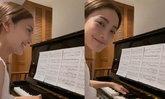 """""""แต้ว ณฐพร"""" กักตัวผุดกิจกรรมใหม่ ร้องเพลง-เล่นเปียโน ส่งยิ้มละลายหัวใจถึง """"ไฮโซณัย"""""""
