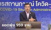 """ยอดพุ่ง 959 ราย! โควิดวันนี้ """"หมอทวีศิลป์"""" แถลงผู้ติดเชื้อในไทย สะสม 14,646 ราย"""