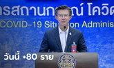 โควิดวันนี้ ศบค.แถลงไทยพบผู้ติดเชื้อเพิ่ม 80 ราย รวมป่วยสะสม 26,031 ราย
