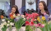"""""""กรณ์"""" สุดโรแมนติกเนรมิตดอกไม้สวยๆ ไว้เต็มบ้านให้ """"ศรีริต้า"""""""