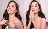"""""""พิ้งกี้ สาวิกา"""" ฟาดด้วยความสวย เปลี่ยนลุคเป็น Miss Universe จักรวาลต้องหลีกทางให้"""
