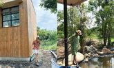 """""""เคน-หน่อย"""" อัปเดตบ้านหลังใหม่สร้างเป็นรูปร่างแล้ว อยู่ท่ามกลางธรรมชาติสุดๆ"""