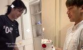 """""""เคน ภูภูมิ"""" ยกเค้กเซอร์ไพรส์วันเกิด """"เอสเธอร์"""" หวานอีกครั้งหลังงอนหนักถึงขั้นลบรูปคู่"""