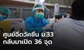 ประกันสังคม กลับมาเปิดศูนย์ฉีดวัคซีน ม.33 พรุ่งนี้ 36 จุดทั่ว กทม.