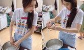 """""""เป้ย ปานวาด"""" เข้าครัวบ้านแม่สามี โชว์ฝีมือสาวเส้นขนมจีนมืออาชีพมาก"""