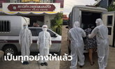 ตำรวจเปลี่ยนหน้าที่ชั่วคราว สวมชุด PPE ขับรถห้องขังไปรับผู้ป่วยโควิดส่งโรงพยาบาล