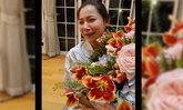 """""""ดีเจต้นหอม"""" ตกใจได้รับดอกไม้ช่อใหญ่ส่งมาเซอร์ไพรส์ พอเฉลยถึงกับร้องไห้"""