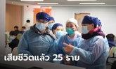 """จีนเครียด """"โคโรนาไวรัส"""" ยังอาละวาดไม่หยุด ล่าสุดดับแล้ว 25 ราย ผู้ติดเชื้อแตะ 830 ราย"""