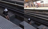 ระทึก! ผู้โดยสารหญิงตกลงในราง BTS สถานีราชเทวี เจ้าหน้าที่ช่วยขึ้นมาแล้ว