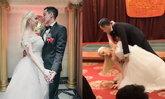 """""""ฮาเวิร์ด หวัง"""" เข้าพิธีแต่งงานแล้ว หวานชื่นเจ้าสาวผมบลอนด์"""