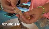 สาวสุดช็อก! ซื้อขนมจีนน้ำยาให้แม่กิน พบสิ่งแปลกปลอมคล้ายกระดาษชำระเต็มถุง