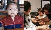 """โมเมนต์อบอุ่น """"หนุ่ม ศรราม"""" อุ้ม """"น้องวีจิ"""" กราบ """"แม่ติ๊ก"""" ในวันเกิดอายุ 1 ขวบ"""