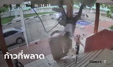 เปิดใจ ตำรวจคนในคลิปร่วงทะลุเพดานโรงพัก เย็บ 8 เข็ม (มีคลิป)
