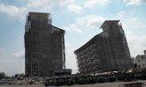 จนท.สั่งหยุดสร้างตึก 7 ชั้น พบ ฐานตึกทรุด