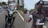 ประเด็นดัง! หนุ่มขี่จักรยานยนต์โดนโบก ตำรวจเห็นเป็นไฟเขียว?
