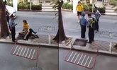 แชร์สนั่น! ศึกไทยไฟว์กลางถนน ชายหนุ่มต่อย รปภ.คนแก่