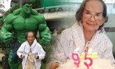 """ฉลองอายุ 95 """"คุณยายมารศรี"""" ยังแฮปปี้ดีในวันเกิด"""