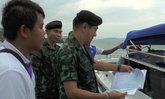 ผบ.ฉก.ร.25นำกำลังตรวจท่าเทียบเรือโดยสาร