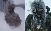 ทหารชายแดนจีนฝ่าพายุหิมะไปส่งเสบียง หนาวจัดจนผ้าคุมหน้าแข็ง