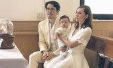 เจนสุดา พอล สิริสันต์ อุ้มน้องควินน์เข้าพิธีศีลล้างบาป