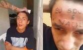 """สุดโหด! เด็กหนุ่มบราซิลถูกจับสักกลางหน้าผาก """"ผมเป็นขโมย"""""""