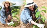 นางเอกตัวจริง! มิน พีชญา มอบต้นกล้ากาแฟพันธุ์ดีให้ชาวใต้