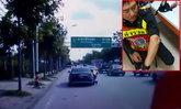 ตำรวจขอตรวจเบนซ์ป้ายแดง ซิ่งหนีลากร่าง ด.ต. กลิ้งบนพื้นถนน