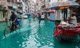 ไม่ได้ใช้แอพนะจ๊ะ น้ำท่วมบังกลาเทศเป็นสีเขียวอมฟ้า