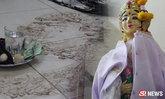 คนขอนแก่นได้เฮ รอยพญานาคโผล่หน้ารูปปั้นย่าศรีปทุมมา
