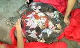 ชาวประมงจีนจับเต่าทะเลยักษ์ได้ ผูกเงินขอพรก่อนปล่อยกลับคืน